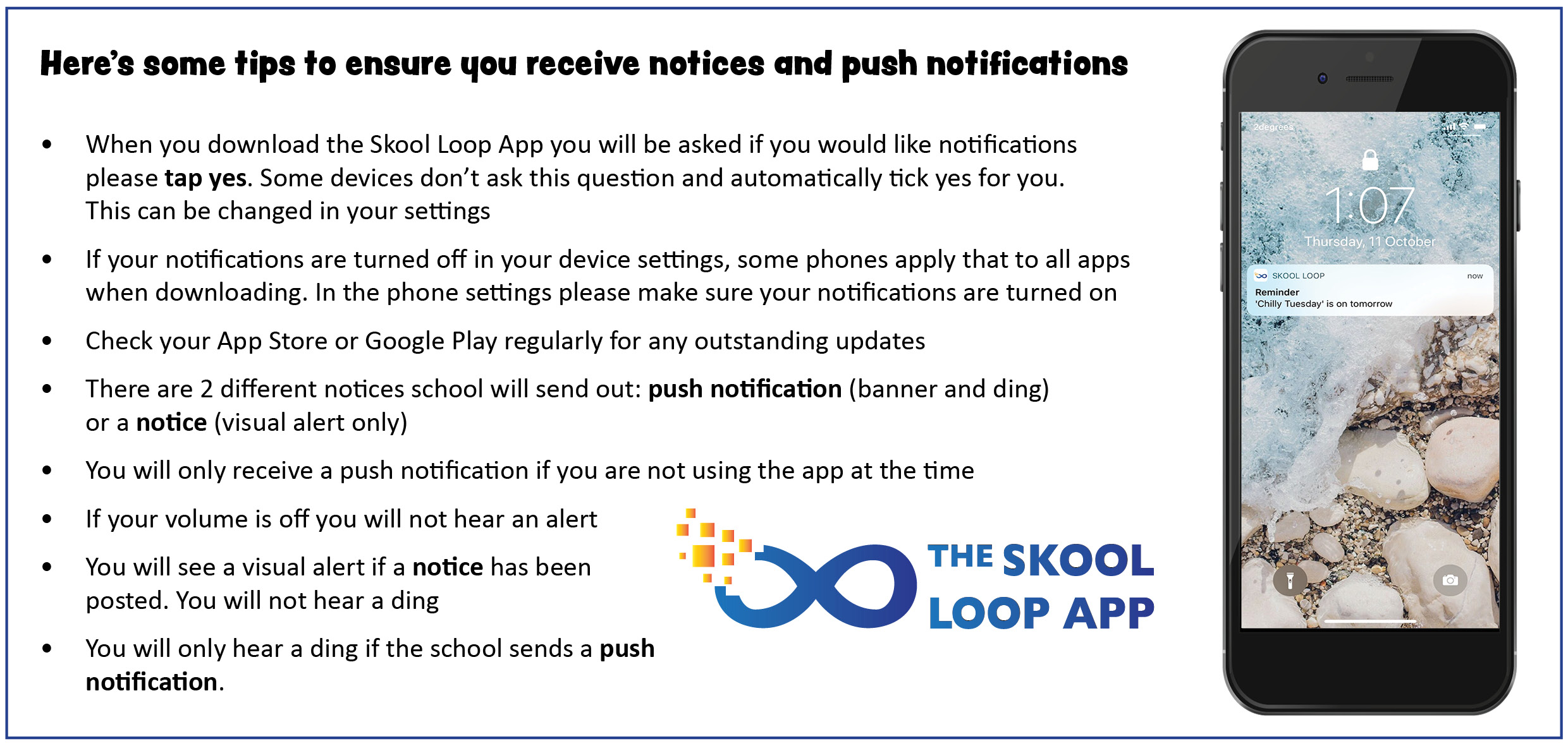 Notices & Notifications